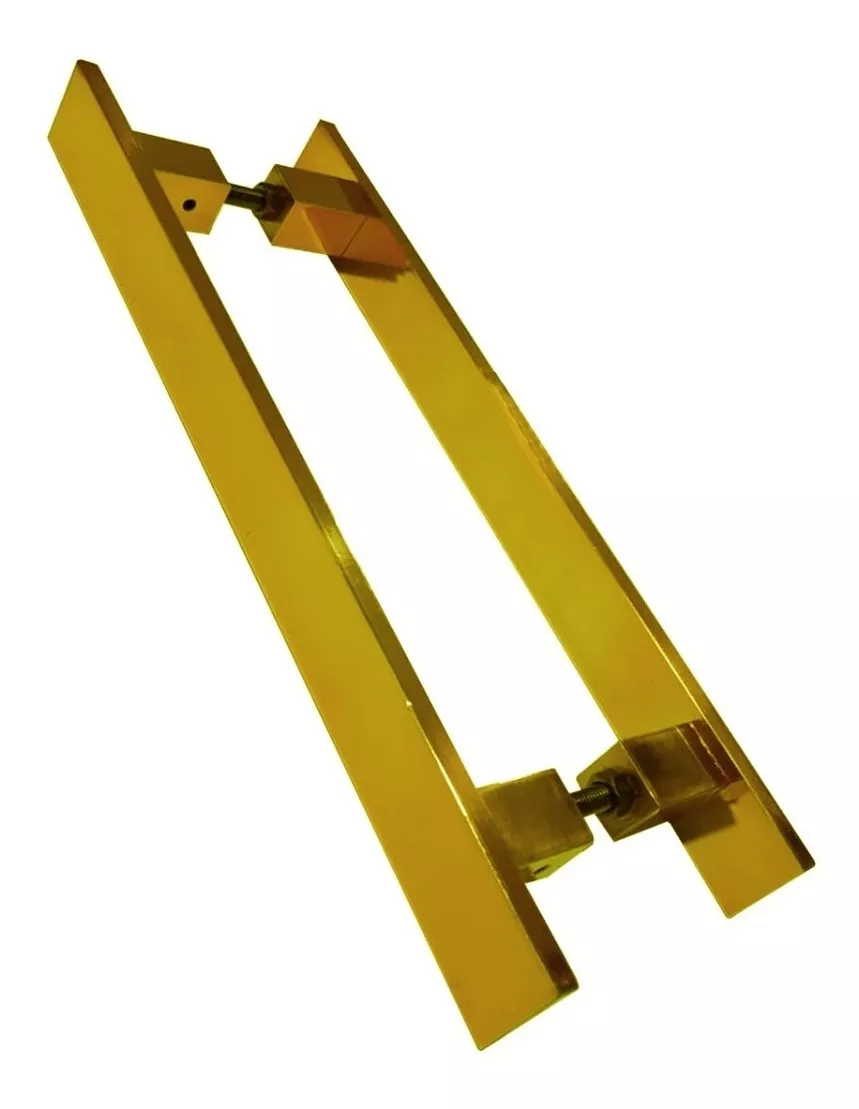 Puxador Porta Pivotante Inox Dourado Reto Italy