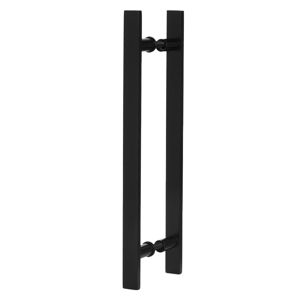 Puxador Para Portas Madeira / Vidro Alumínio Preto
