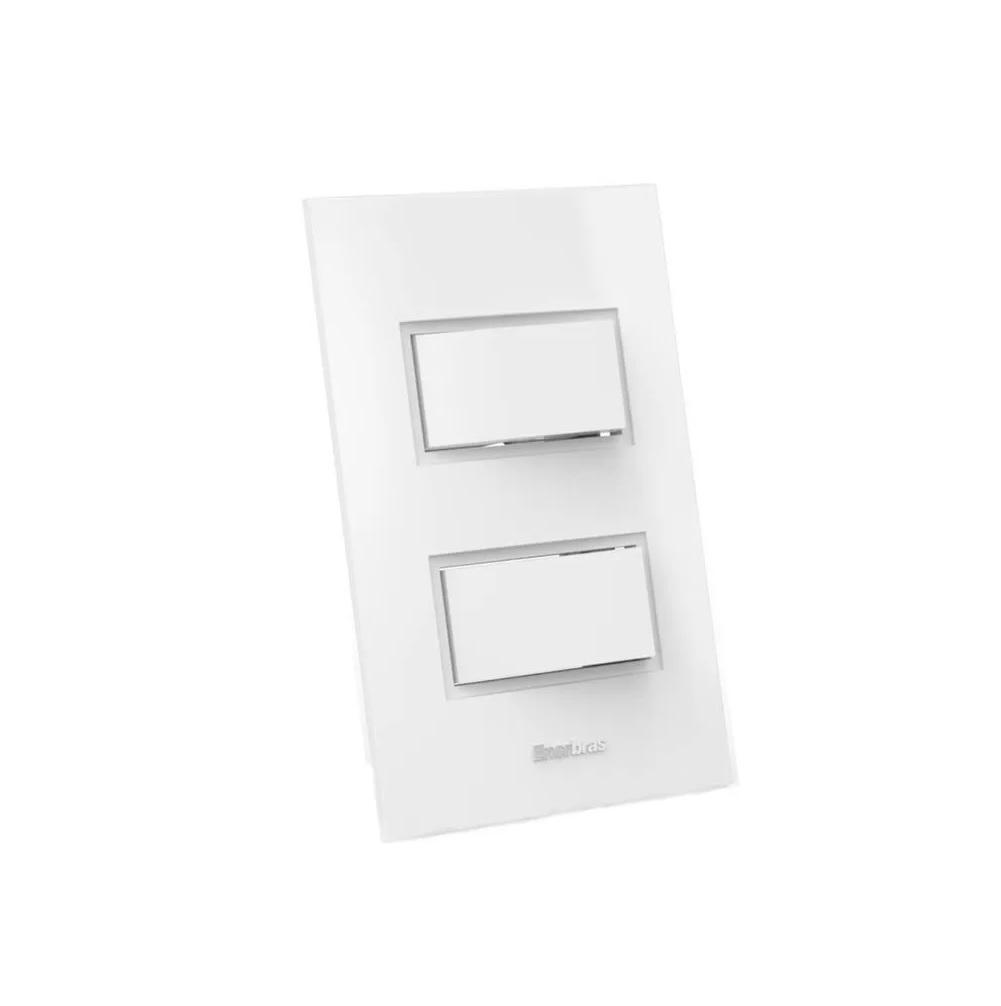Interruptor completo tecla simples Linha Beleze - Branco