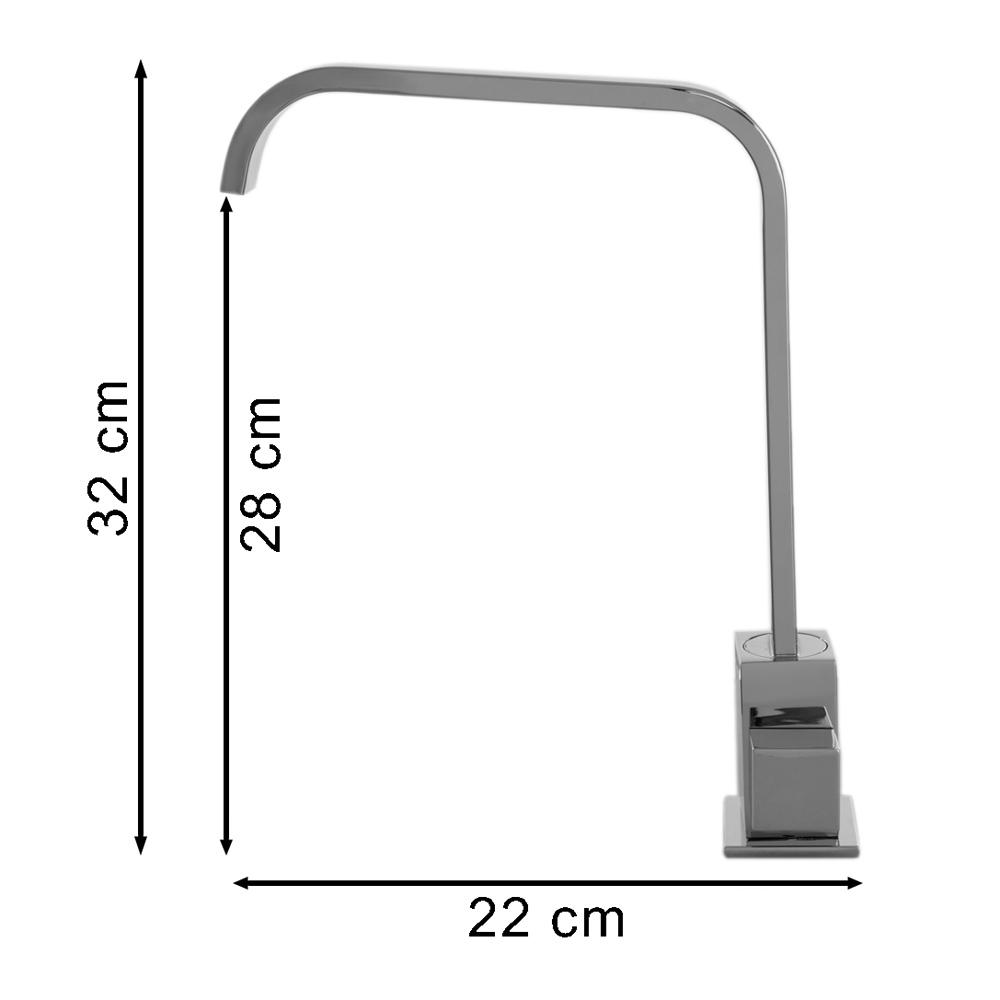 Torneira Bica Móvel Quadrit Slim Bancada 6162
