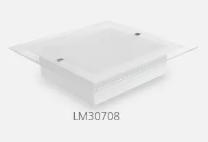 Luminaria Inovata Plafon Vidro 40x40 Cm Empalux