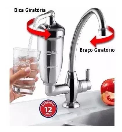 Purificador De Água Acqua Bella Lorenzetti Filtro Imetro cromado bancada