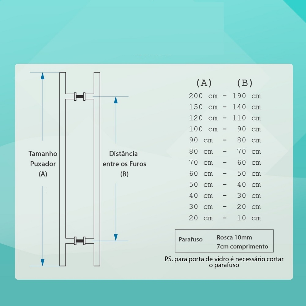 Puxador Para Portas Madeira / Vidro Alumínio Curvo Branco