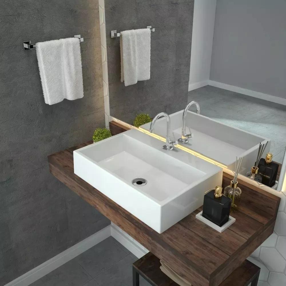 Cuba de apoio banheiro sobrepor Rt55 Florenza