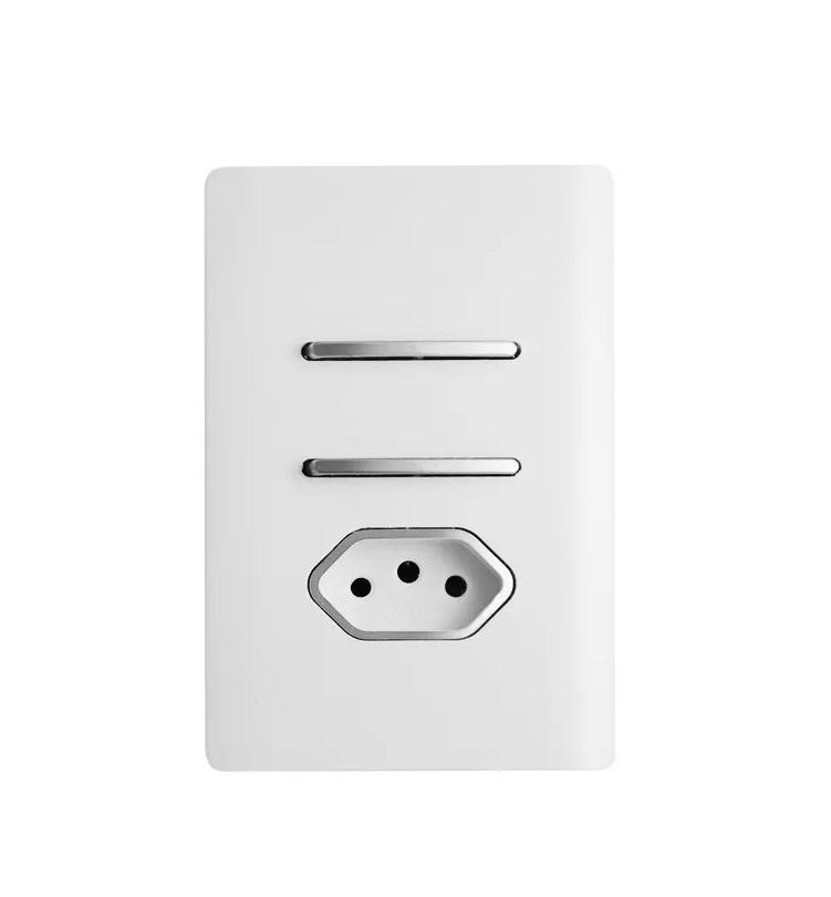 1 Interruptor Simples + 1 Paralelo + tomada 20a Novara