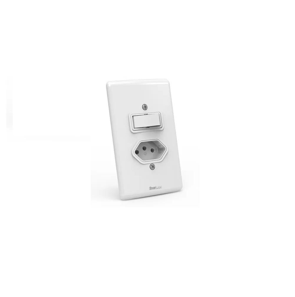 Interruptor 1 Tecla + Tomada 10a Enerbras - ARTIS