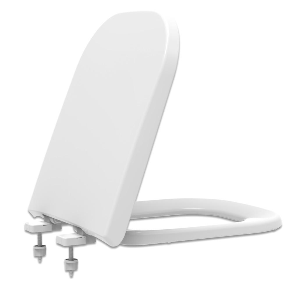 Assento Sanitário Deca Quadra feixo suave Branco - Tupan