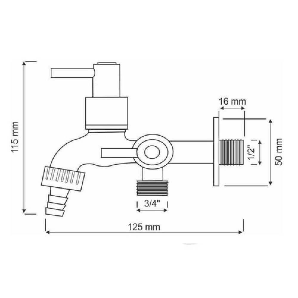 Torneira De Tanque E Máquina De Lavar Luxo C-35