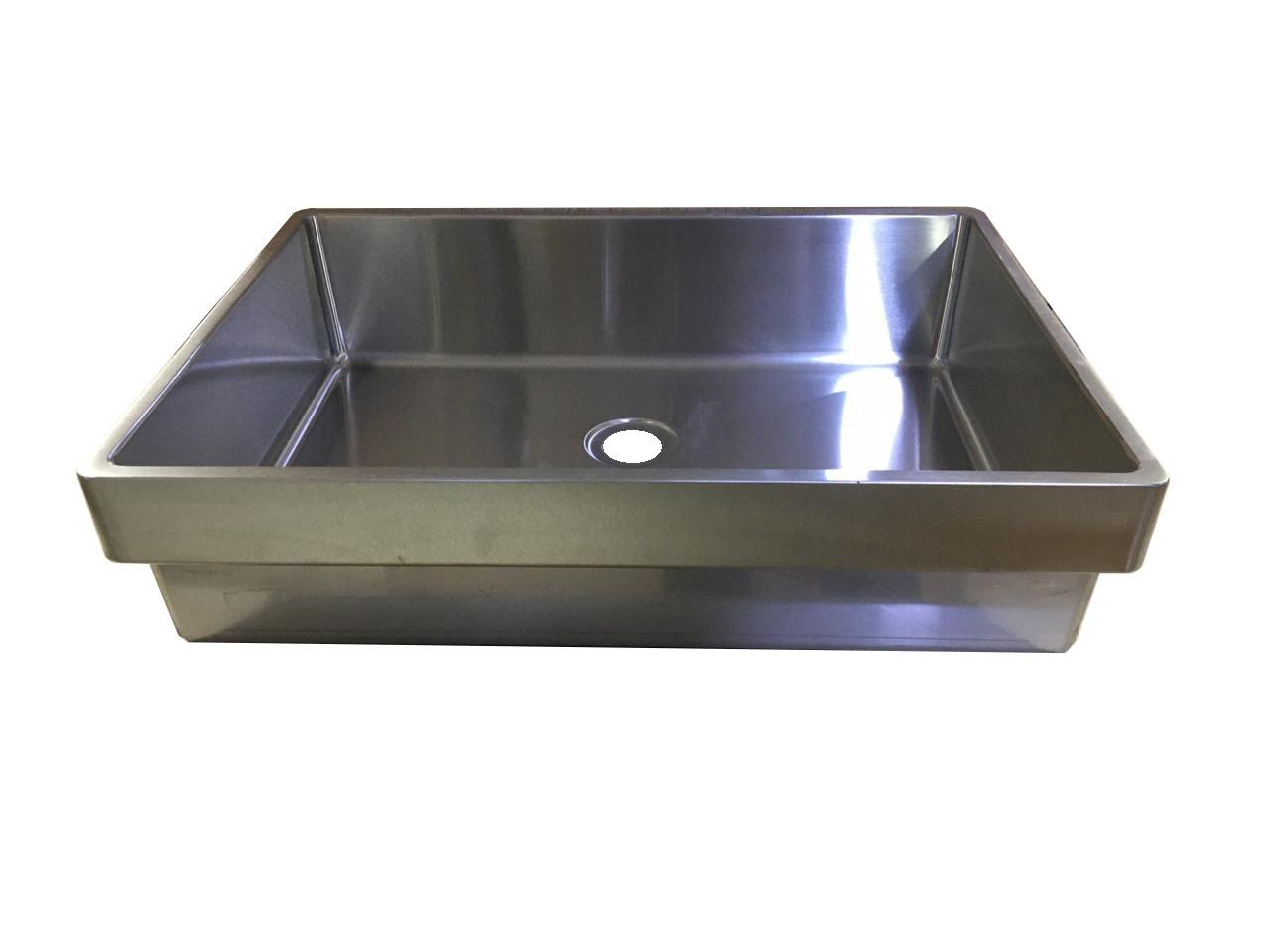 Cuba Aço Inox 304 Para Banheiro 50 Cm X 36 Cm