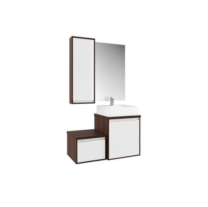 Gabinete Para Banheiro DENVER c/ espelheira, cuba e nicho