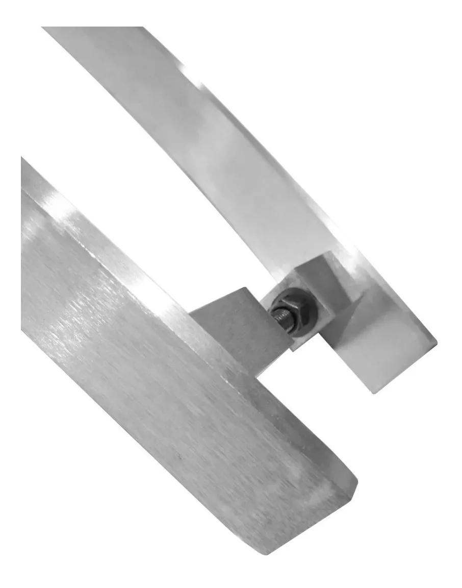 Puxador barra chata curvo Luxo 4x1 maciço escovado