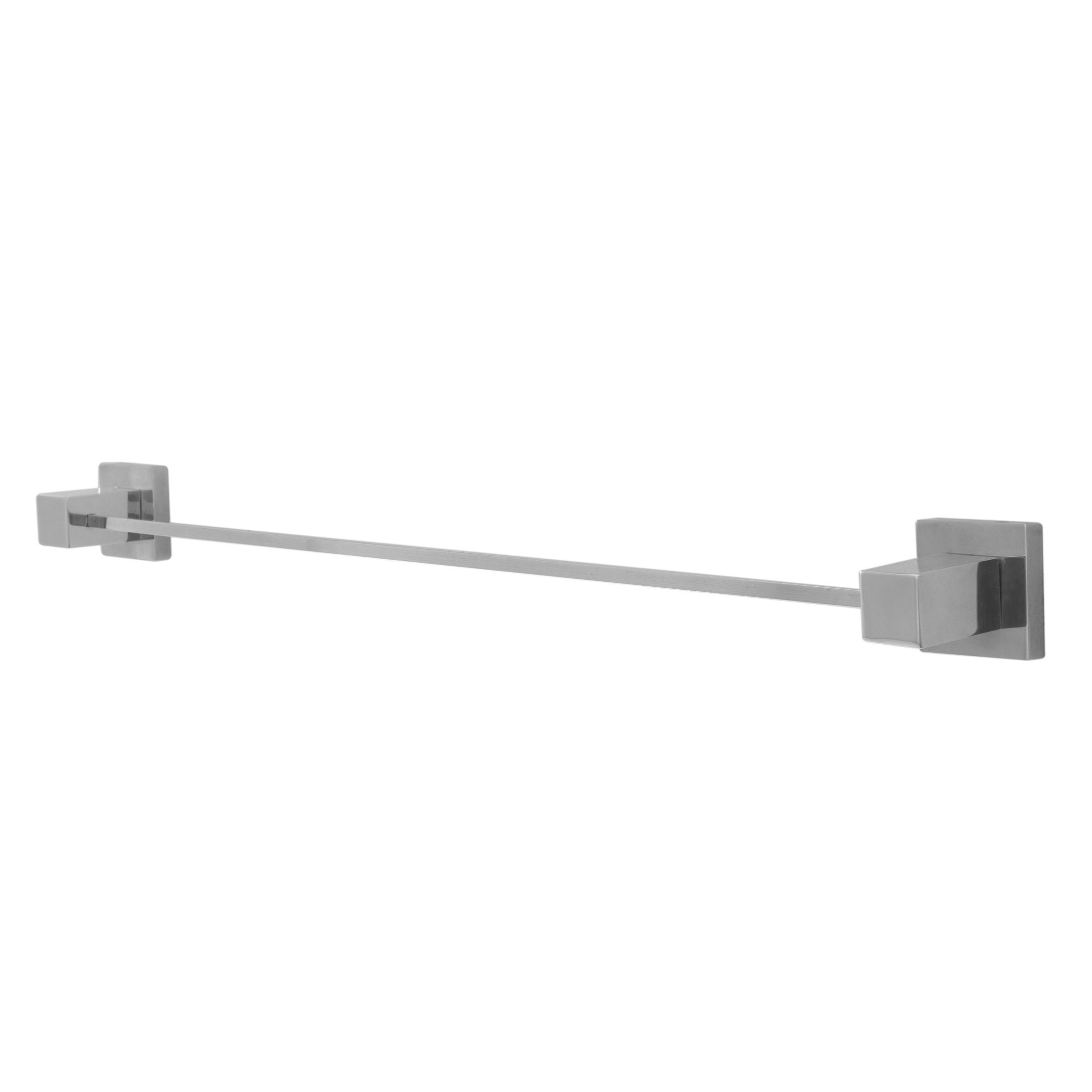 Porta Toalha Reto Para Banheiro Metal Quadrado