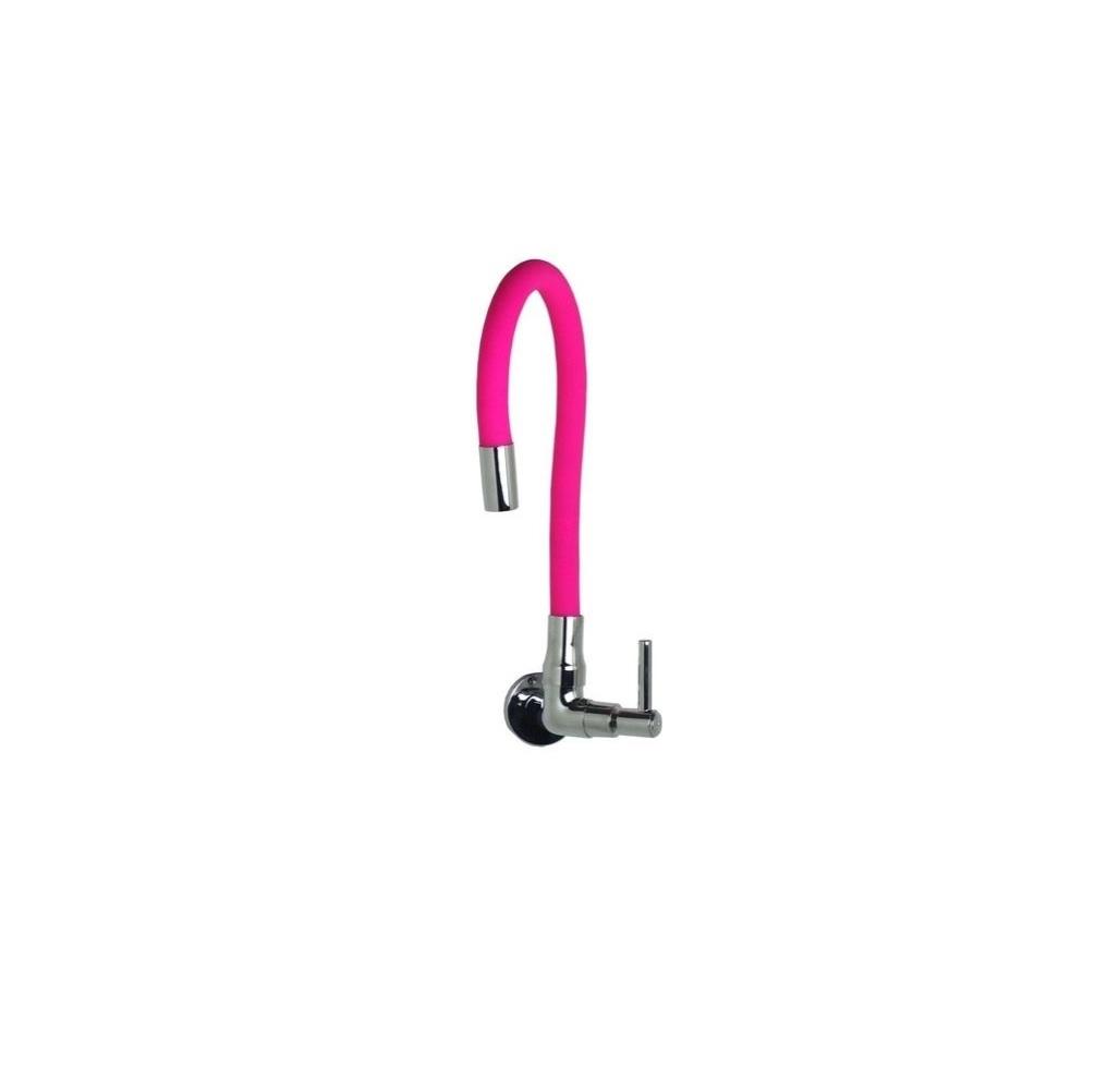 Torneira Color Luxo Parede Cano De Silicone Flexível C-66