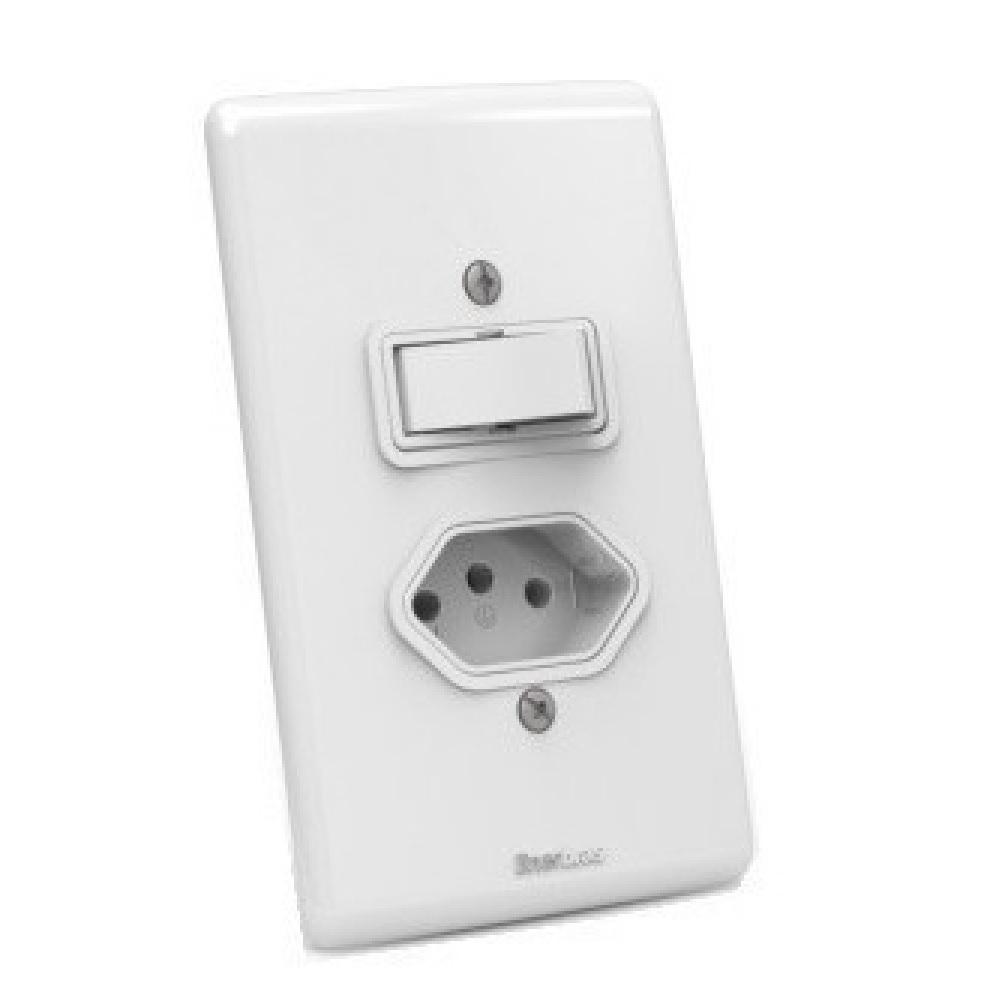 Interruptor 2 Teclas Simples/paralelo + Tomada 10a Enerbras - ARTIS