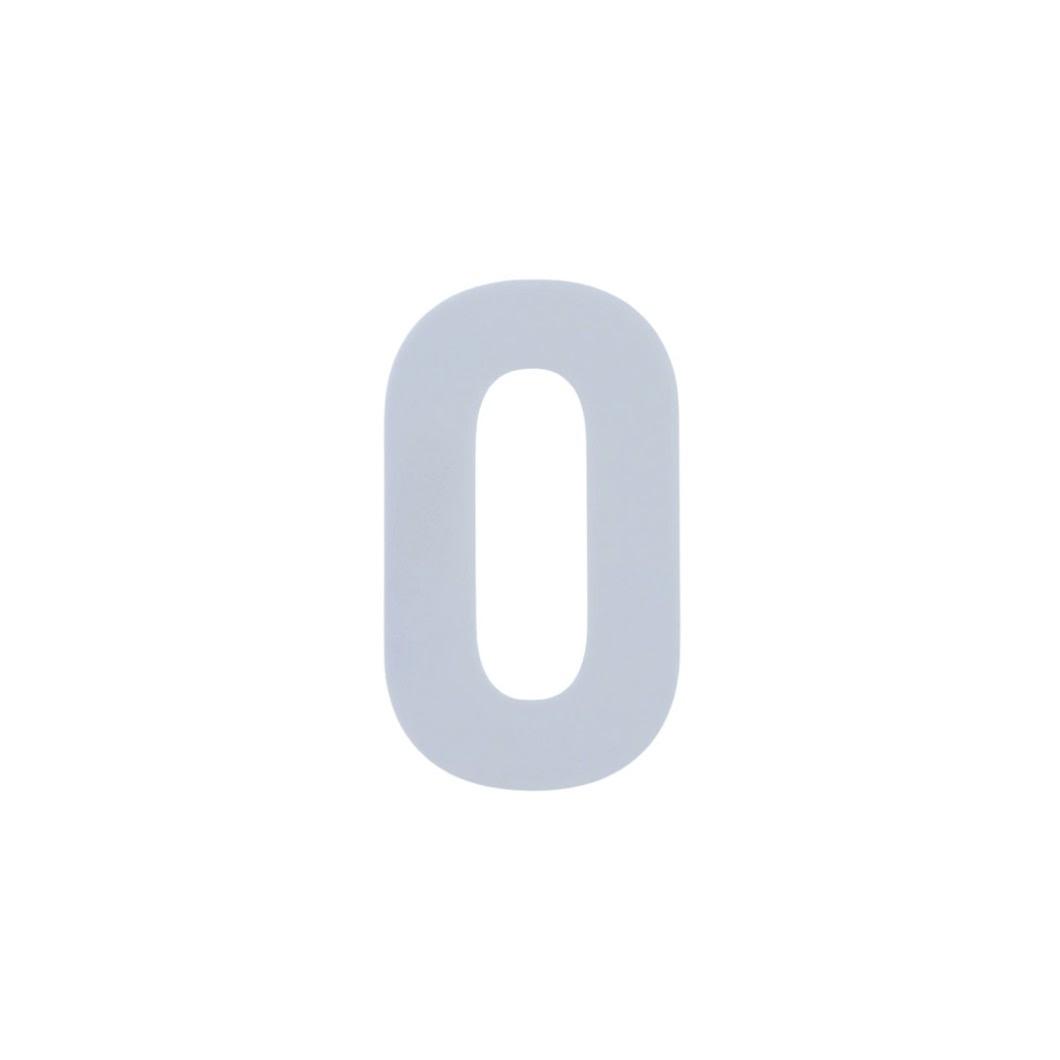 Número Residencial Branco Dupla Face - 20 cm