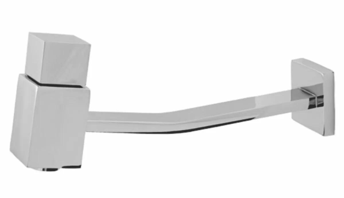 Torneira Retangular Parede Requinte Luxo 1/4 De Volta