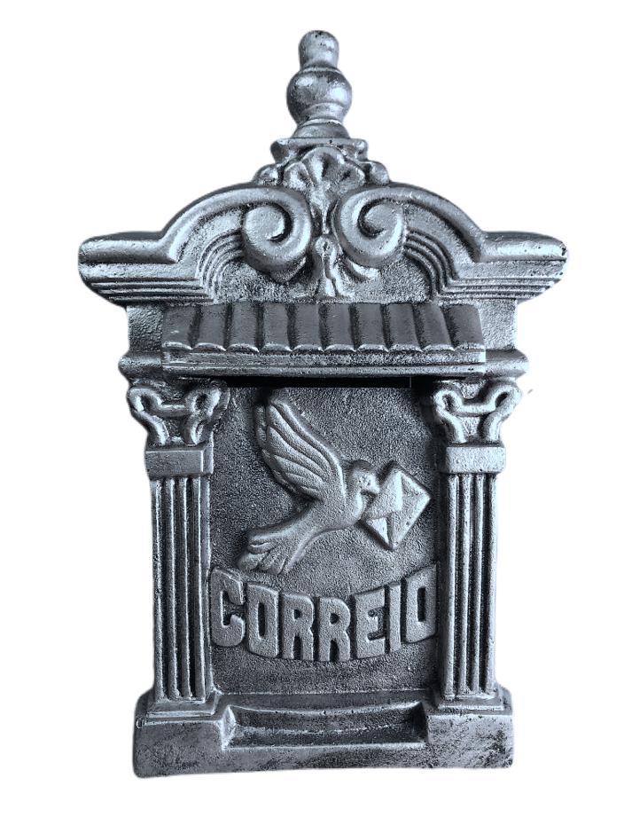 Caixa De Correio Alumínio P/ Portão Ou Muros grande estilo colonial