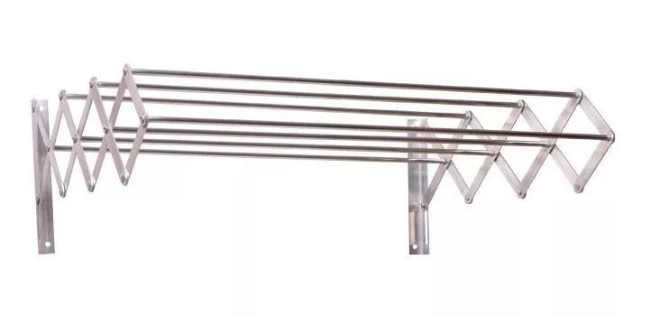 Varal De Parede Sanfonado Alumínio, 100 Cm
