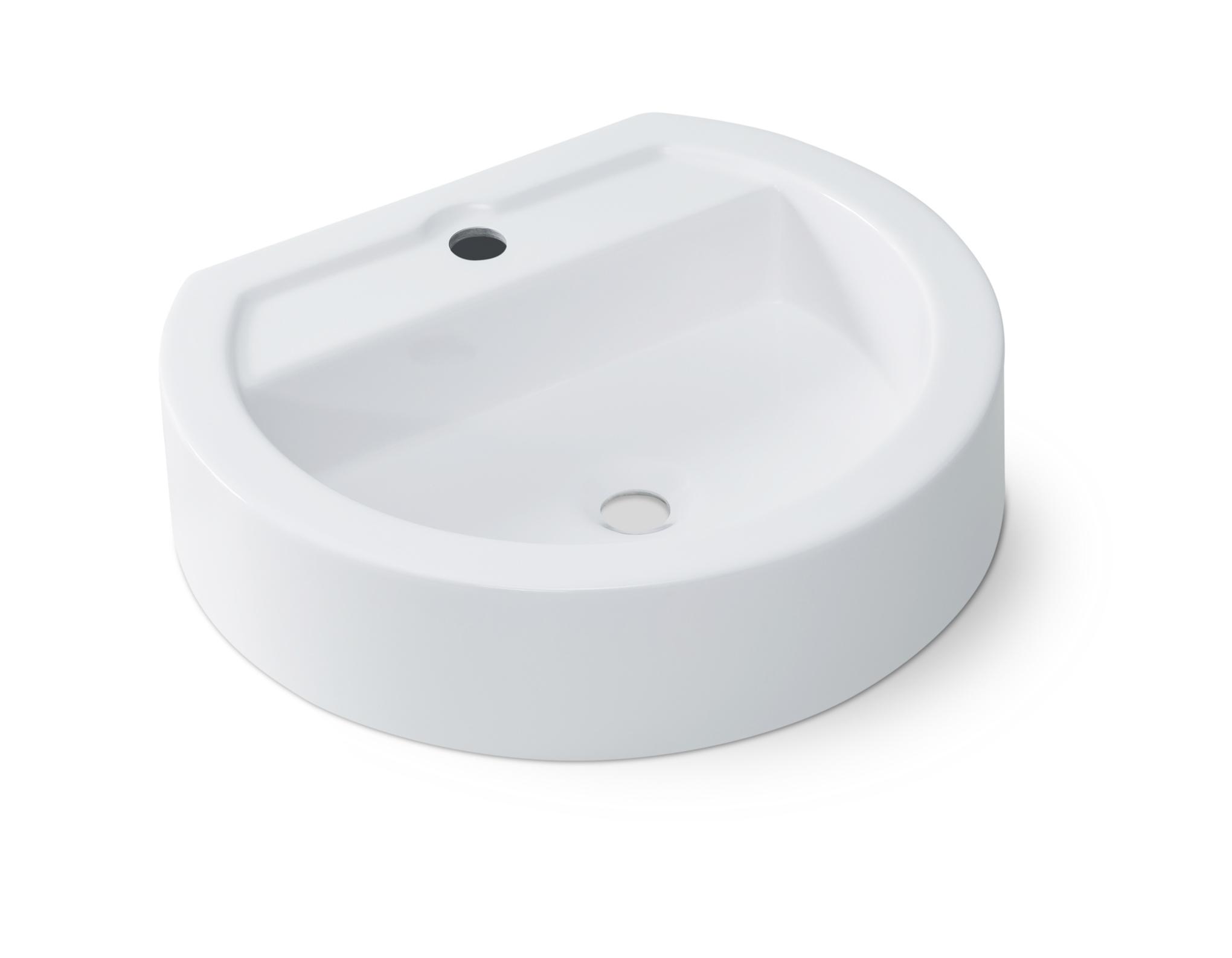 Cuba De Apoio Para Banheiro Oval Ov43w Oval Onix