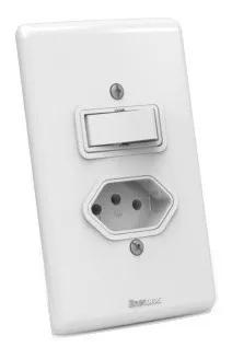 Interruptor 1 Tecla + Tomada 10a Enerbras