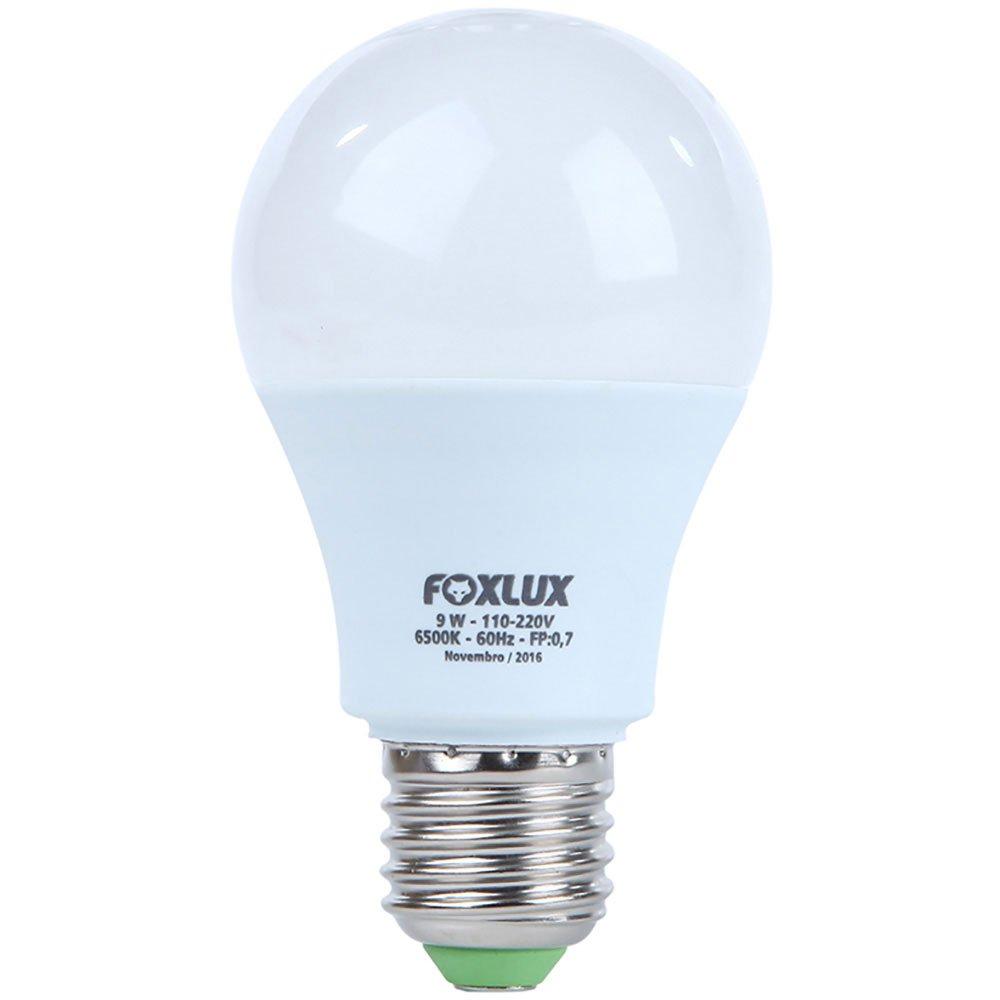 Lampada Super Led Bulbo A60 9 W 6500k Biv. 803 Lumens FOXLUX