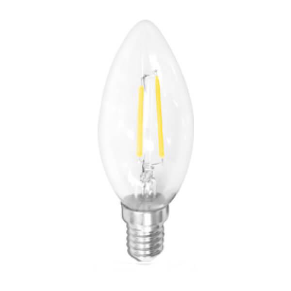 Lampada Led Vela Filamento 2w 2400 K E14