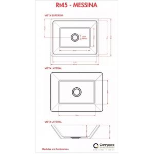 Cuba / Pia De Apoio Retangular messina Rt45