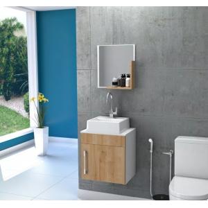 Gabinete Armário P/banheiro (balcão+ Cuba Q32+espelho)45cm