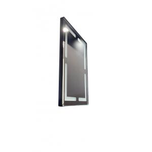 ESPELHO RETANGULAR COM LED TOUCH PRETO SOBREPOR - 70 CM