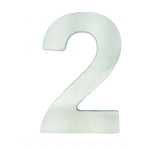 Número Residencial Metal Escovado Grande (20cm)