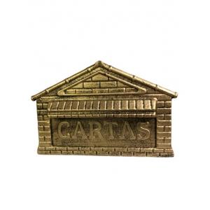 Caixa De Correio Alumínio P/ Portão Ou Muros (tijolinho)
