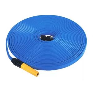 Jogo De Mangueira Chatinha 15 M Azul Com Catilho E Conector
