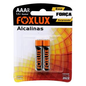 Pilha Alcalina Aaa Foxlux P Original Blister