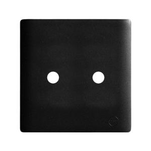 placa cega com 2 furos + suporte 4x4 Novara dicompel