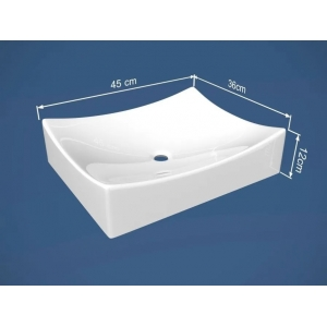 Cuba de apoio banheiro marmore sintético Pádua