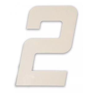 Número Residencial Em Metal Branco Dupla Face
