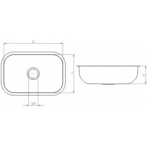 Cuba N° 01 46x30cm Aço Inox 430 Válvula/sifão Tecnocuba