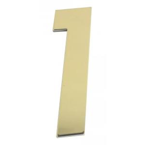 Número Residencial Em Metal Dourado Brilho Dupla Face
