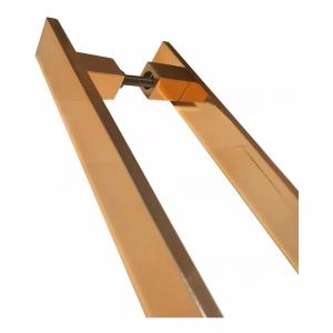 Puxador Porta Pivotante Inox ROSE/ COBRE Reto Italy