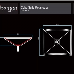 Cuba De Vidro Bergan Sulle Retangular Incolor 41x35 Cm