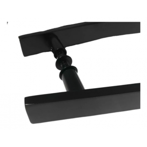 Puxador Para Portas Madeira / Vidro Alumínio Curvo Preto