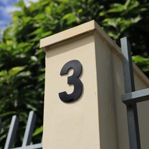 Número Residencial Preto Dupla Face
